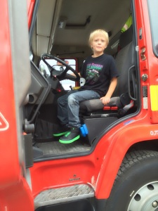 Ian i brandbilen